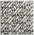 rug #424537 | square white graphic rug