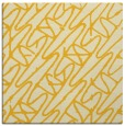 rug #424553 | square yellow abstract rug