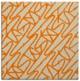 rug #424581   square orange abstract rug