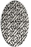 rug #424622 | oval abstract rug