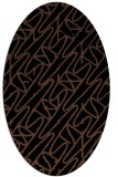 rug #424633   oval brown graphic rug