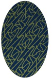 rug #424653 | oval blue graphic rug
