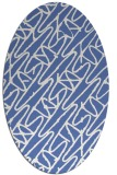 rug #424657 | oval blue abstract rug