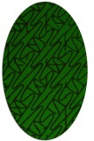 rug #424685 | oval green abstract rug