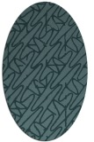 rug #424689   oval blue-green abstract rug