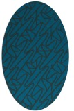 rug #424697 | oval blue graphic rug