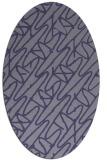 rug #424705   oval blue-violet graphic rug