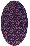 rug #424709 | oval pink graphic rug