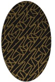 rug #424733 | oval black graphic rug