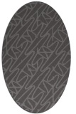 rug #424765 | oval brown graphic rug