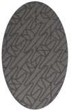 rug #424766 | oval graphic rug