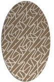 rug #424769 | oval mid-brown rug
