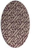 rug #424773   oval pink abstract rug