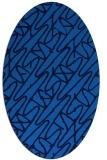 rug #424785 | oval blue rug