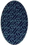 rug #424788 | oval abstract rug