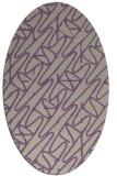 rug #424797 | oval purple graphic rug