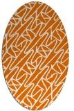 rug #424809 | oval orange graphic rug