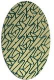 rug #424821 | oval yellow rug