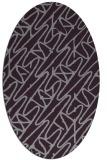 rug #424853 | oval purple graphic rug