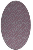 rug #424855 | oval abstract rug