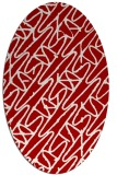 rug #424857 | oval red abstract rug