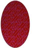 rug #424869 | oval abstract rug