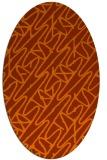 rug #424873 | oval red-orange rug