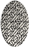 rug #424889 | oval white graphic rug