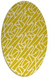 rug #424917 | oval white abstract rug