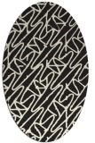 rug #424925 | oval black graphic rug