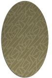 rug #424941   oval light-green abstract rug