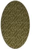 rug #424949   oval light-green abstract rug