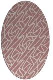 rug #424957 | oval pink rug