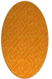 rug #424961 | oval light-orange graphic rug