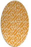 rug #424965   oval light-orange abstract rug