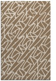 rug #425121 |  mid-brown graphic rug