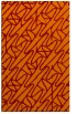 rug #425157 |  orange graphic rug