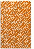 rug #425161 |  orange abstract rug