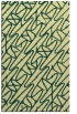 rug #425173    yellow abstract rug