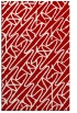 rug #425209 |  red graphic rug