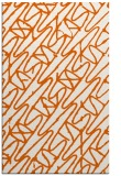 rug #425237    red-orange abstract rug