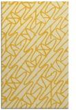 rug #425257    yellow abstract rug