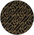 rug #425341 | round mid-brown rug