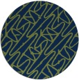 rug #425357 | round green abstract rug
