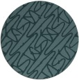 rug #425393   round blue-green abstract rug