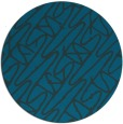 rug #425401 | round blue abstract rug