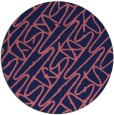 rug #425413 | round pink abstract rug