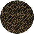 rug #425437 | round black abstract rug