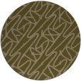 rug #425441 | round brown abstract rug