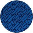 rug #425489 | round blue rug
